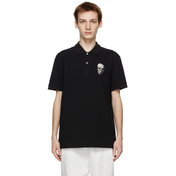 Alexander McQueen 黑色 Skull Badge Polo 衫