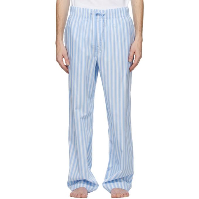 Tekla 蓝色 and 白色条纹睡裤