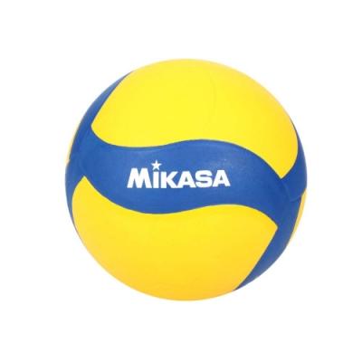 MIKASA 螺旋型軟橡膠排球#4-訓練 4號球 運動 V024WS 黃藍白