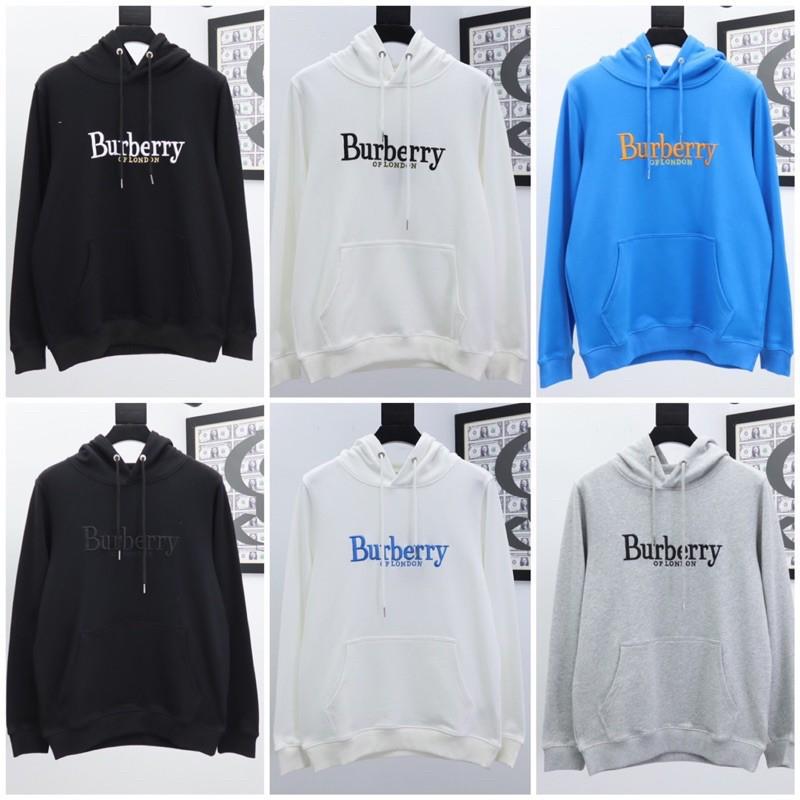 Burberry BBR 巴寶莉 20刺繡字母 秋冬 長袖 帽T 時尚 男女同l1640 XP5339