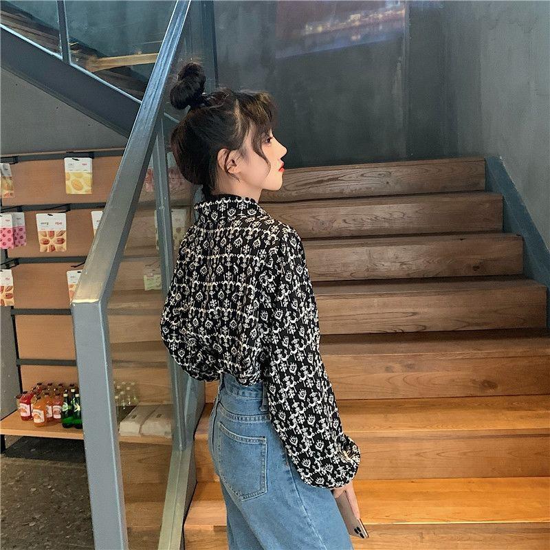 上衣女春秋冬季假兩件長袖打底衫新款韓版女學生寬松設計百搭襯衫MY1217