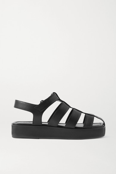 Porte & Paire - 皮革凉鞋 - 黑色 - IT36.5