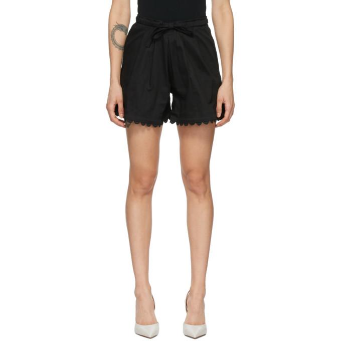 Kika Vargas 黑色 Elsie 短裤