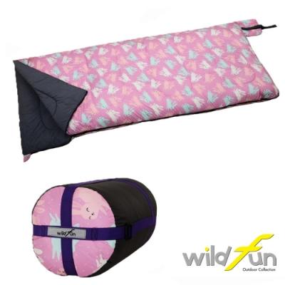 WildFun 野放可拼接方型發熱棉睡袋-MX003 兔兔