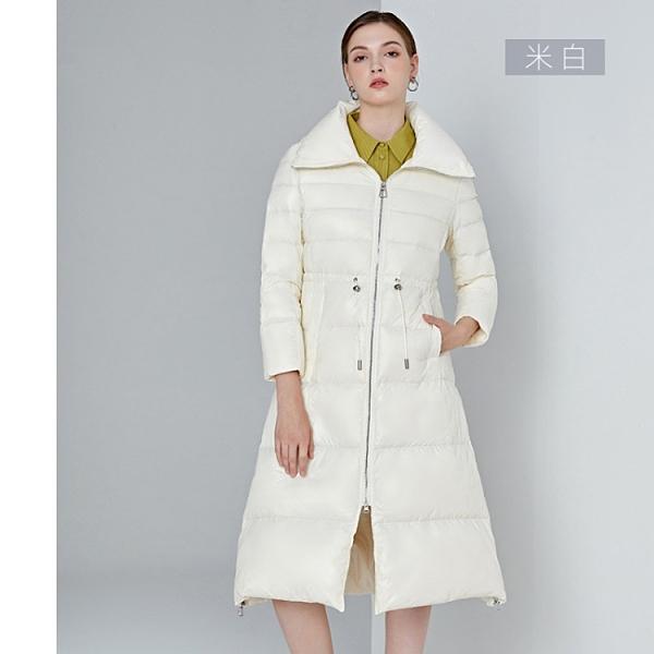 歐美風女加厚保暖羽絨外套大衣90%白鴨絨【21-25-8822-20】ibella 艾貝拉
