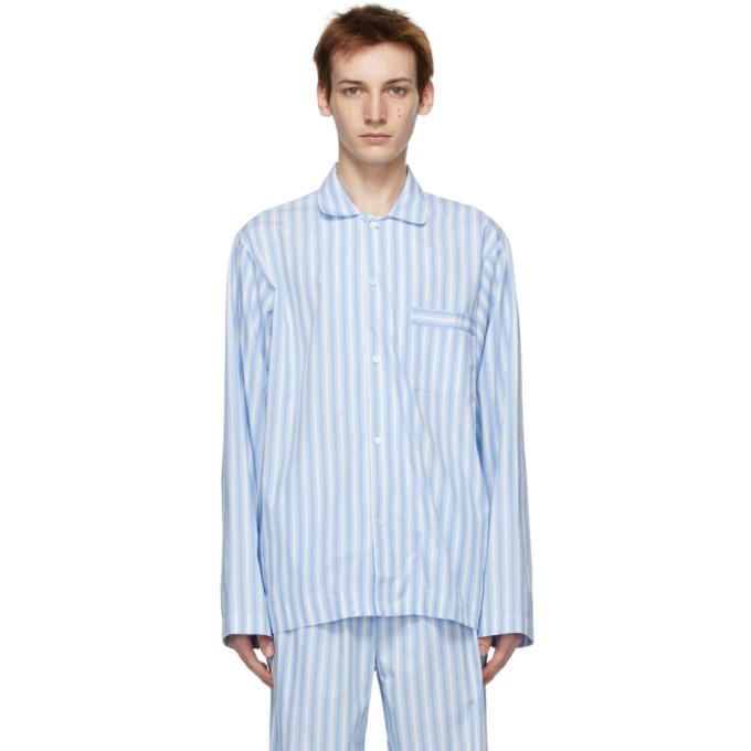 Tekla 蓝色 and 白色条纹睡衣