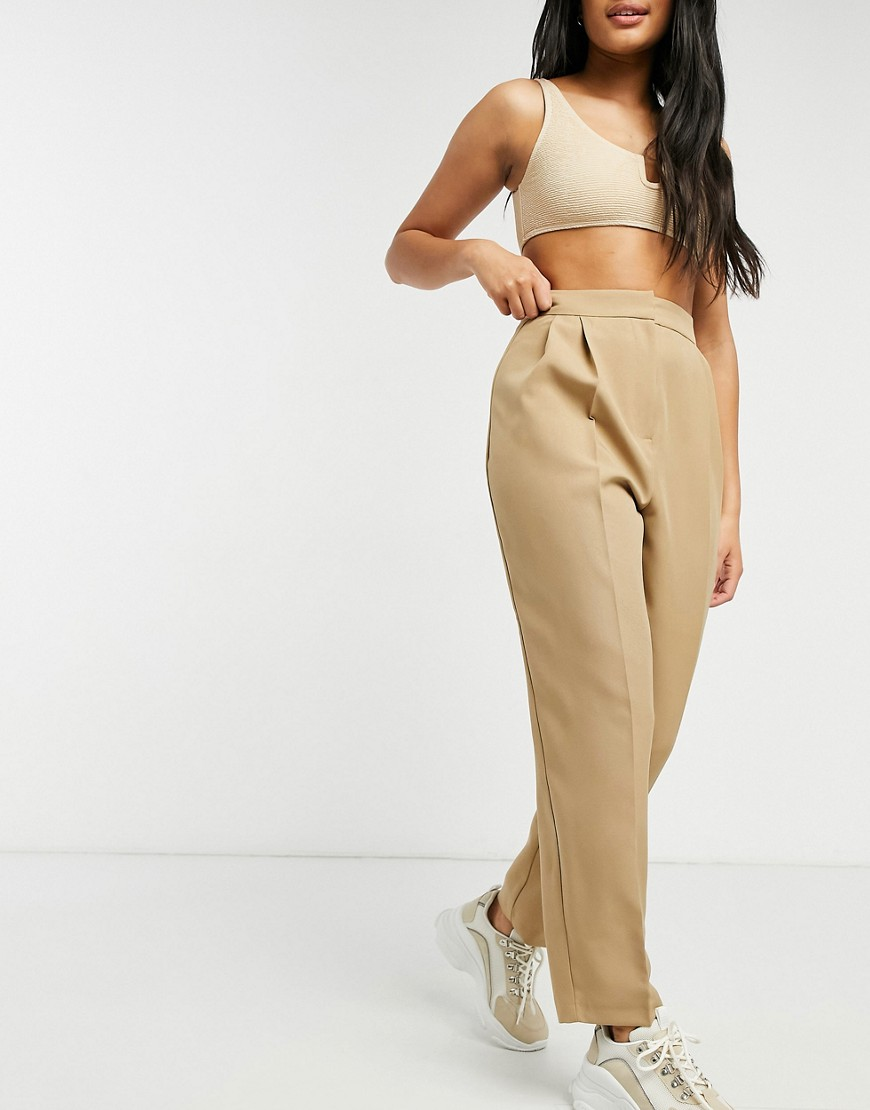 ASOS DESIGN Hourglass mansy tapered trouser in mocha-Brown