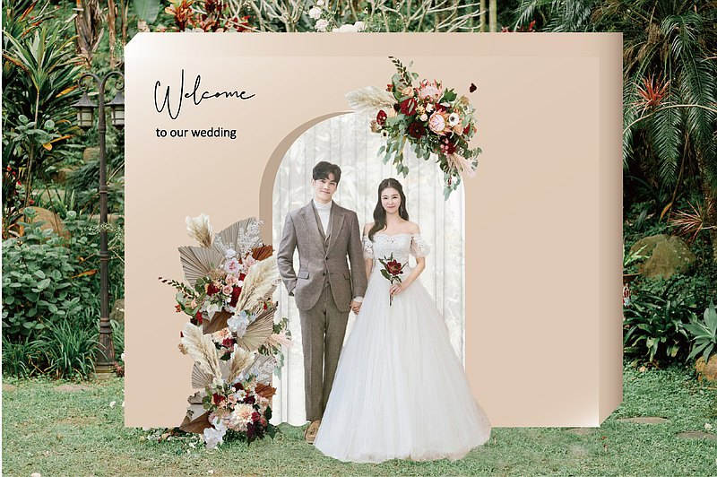 Palace 歐式宮廷 婚禮主題包套布置 拍照背板 收禮相本桌 捧花