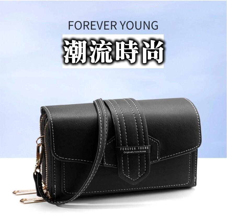 時尚潮流復古風格手機包 手機錢包兩用收納包 斜背小跨包 手拿斜背兩用皮夾手機包