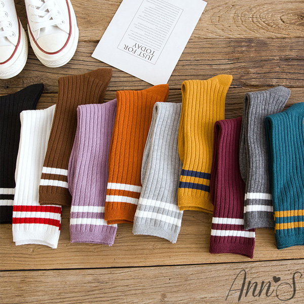 Ann'S條紋配色堆堆半統兩穿襪(43號內適穿)-3色