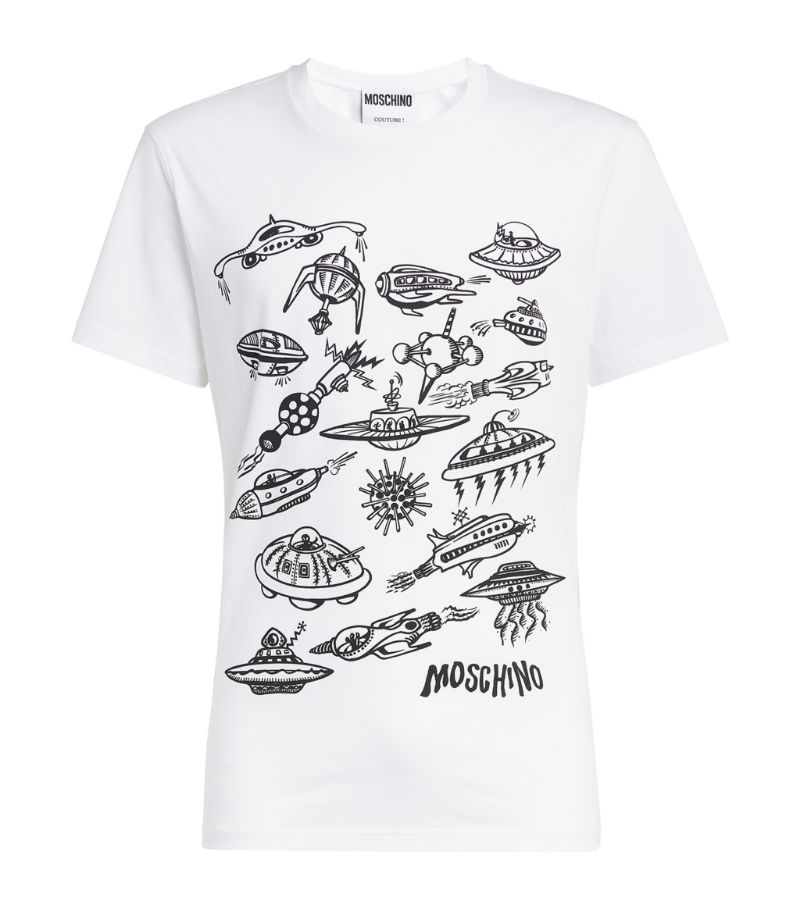 Moschino Spaceship Print T-Shirt