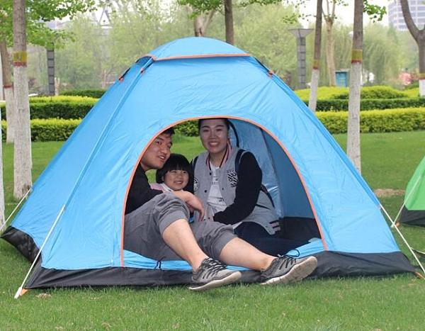 戶外帳篷 戶外全自動帳篷3-4人野外露營野營單人雙人2人速開加厚防雨帳篷【快速出貨八折下殺】