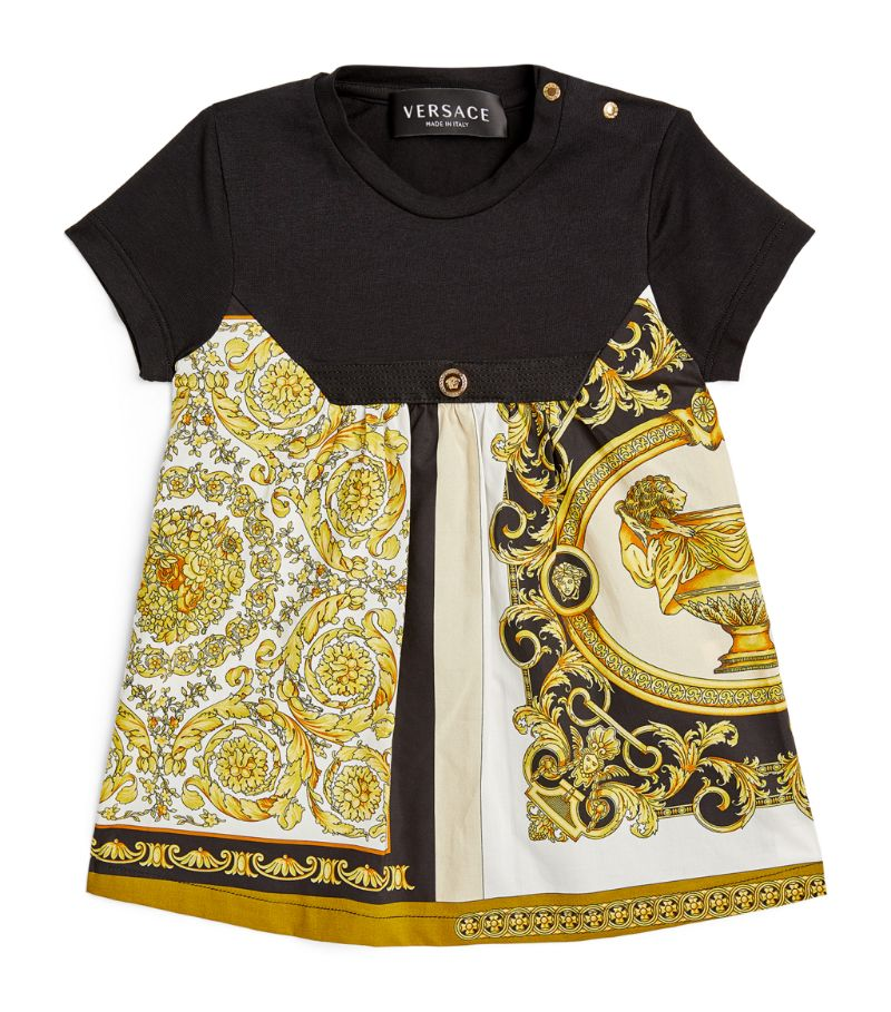 Young Versace Baroque Mosaic Print Dress (6-36 Months)
