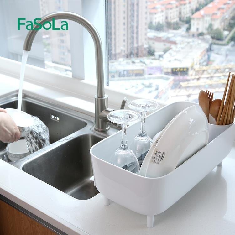 瀝水架廚房碗碟架家用水槽瀝水籃臺面置物收納架濾水架wy 快速出貨