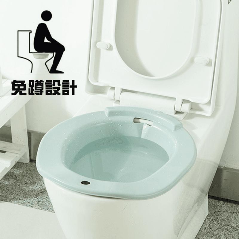 通用式馬桶坐浴盆 孕婦/老人免蹲免治盆浴-護理 溫和舒適