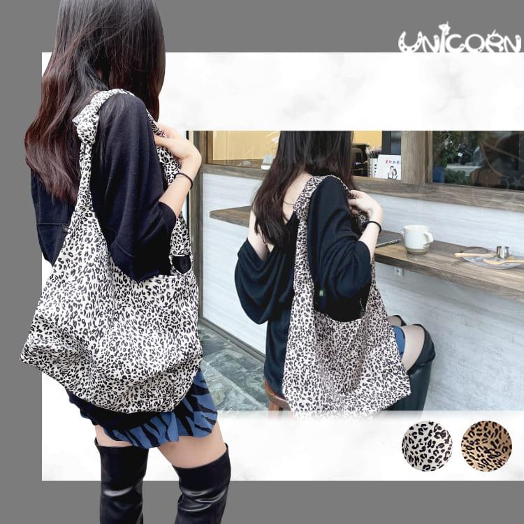 -兩色-時尚豹紋單肩包 側背包 包包 手提包 隨身包 出遊包【AS1091240】Unicorn