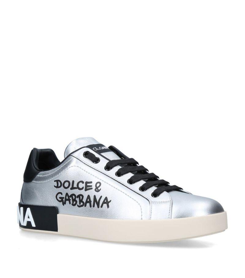Dolce & Gabbana Metallic Portofino Sneakers