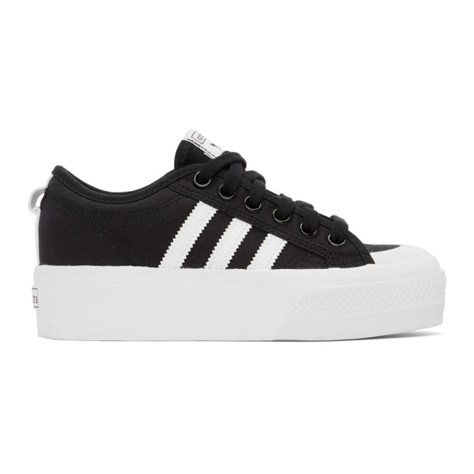 adidas Originals 黑色 Nizza 运动鞋