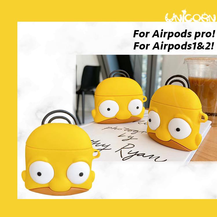 半臉辛普森荷馬 蘋果AirPods Pro3代 & AirPods 1/2代專用 耳機盒保護套 收納套【AP1090702】Unicorn手機殼