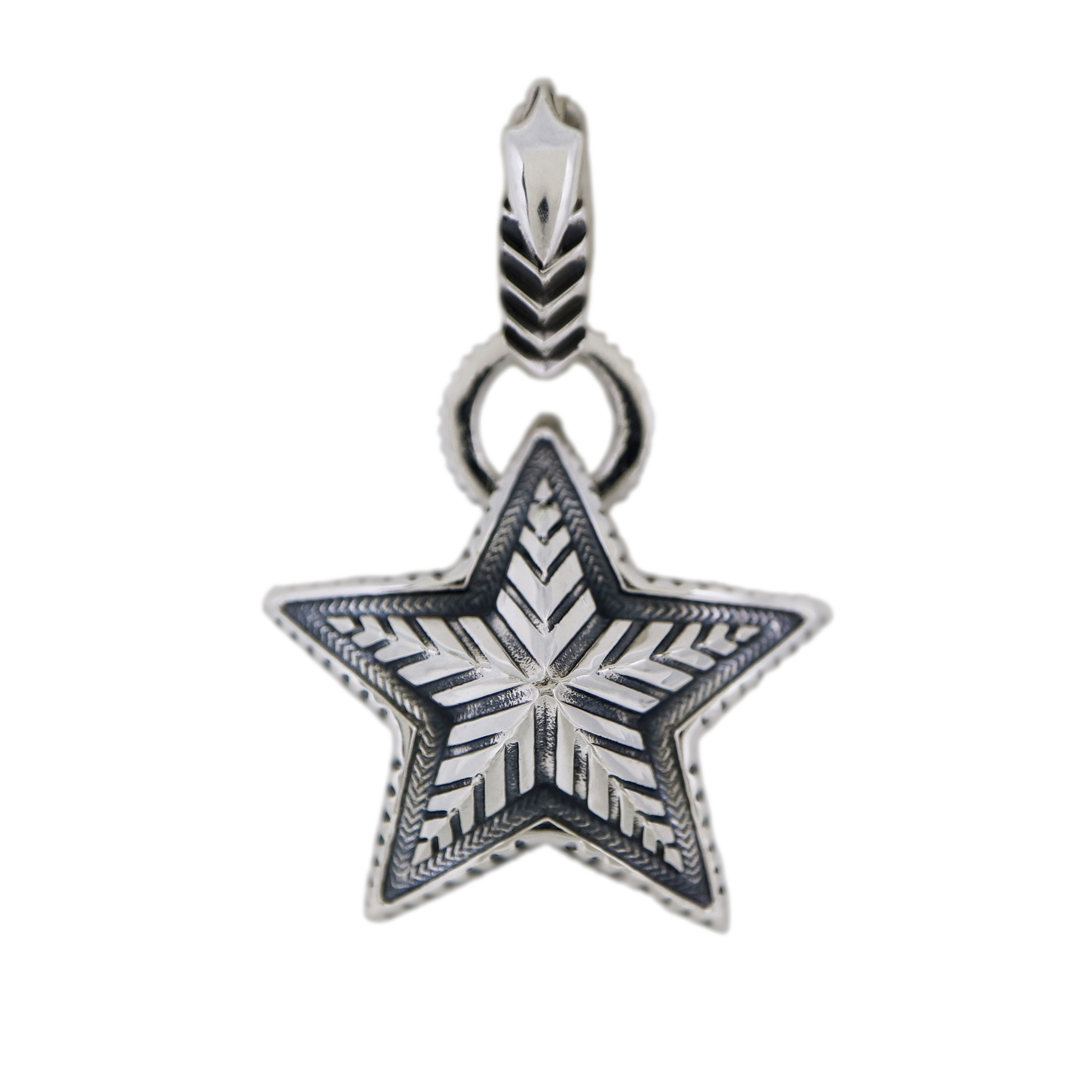 SMALL REVERSIBLE STAR W / ARROW BAIL PENDANT  [USD $900]