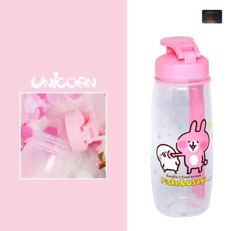 正版卡娜赫拉的小動物 粉紅小提把PP水壺 水瓶 隨身瓶 500ml【AS10708016】Unicorn手機殼♥