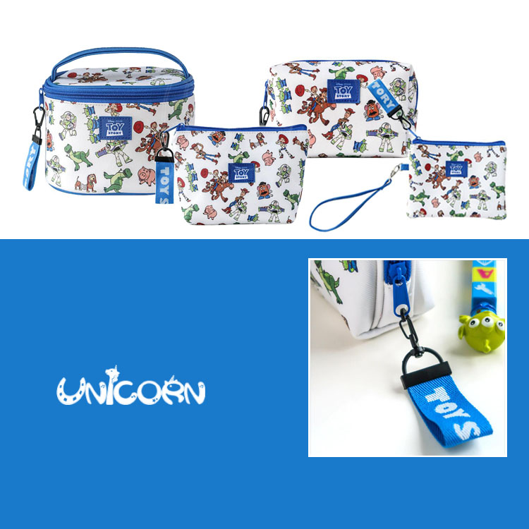 -五款-正版玩總藍白風系列 多功能化妝包 收納包 零錢包 手拿包 小物包 隨身包【AS1080833】Unicorn手機殼