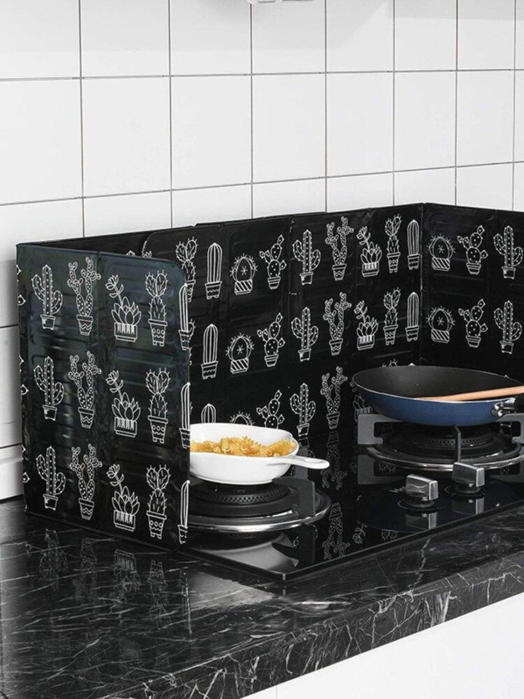 廚房擋油板 廚房鋁箔擋油板創意家用炒菜防濺煤氣灶台耐高溫加厚隔油板易清洗【xy5972】