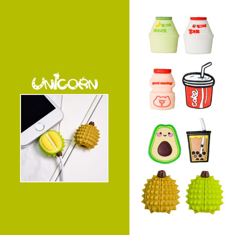 -多款-立體食物造型 iPhone充電線保護套 傳輸線套 充電線套【AS1080850】Unicorn手機殼
