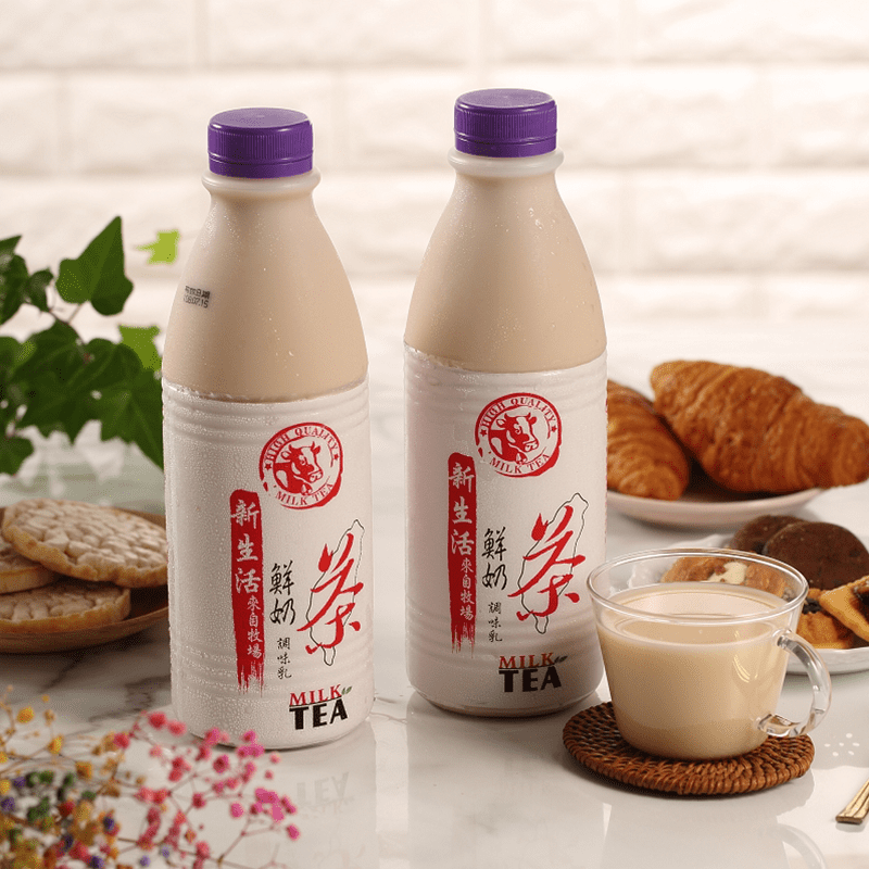 【新生活】生乳含量50%鮮奶茶(936ml/瓶)(6 瓶)