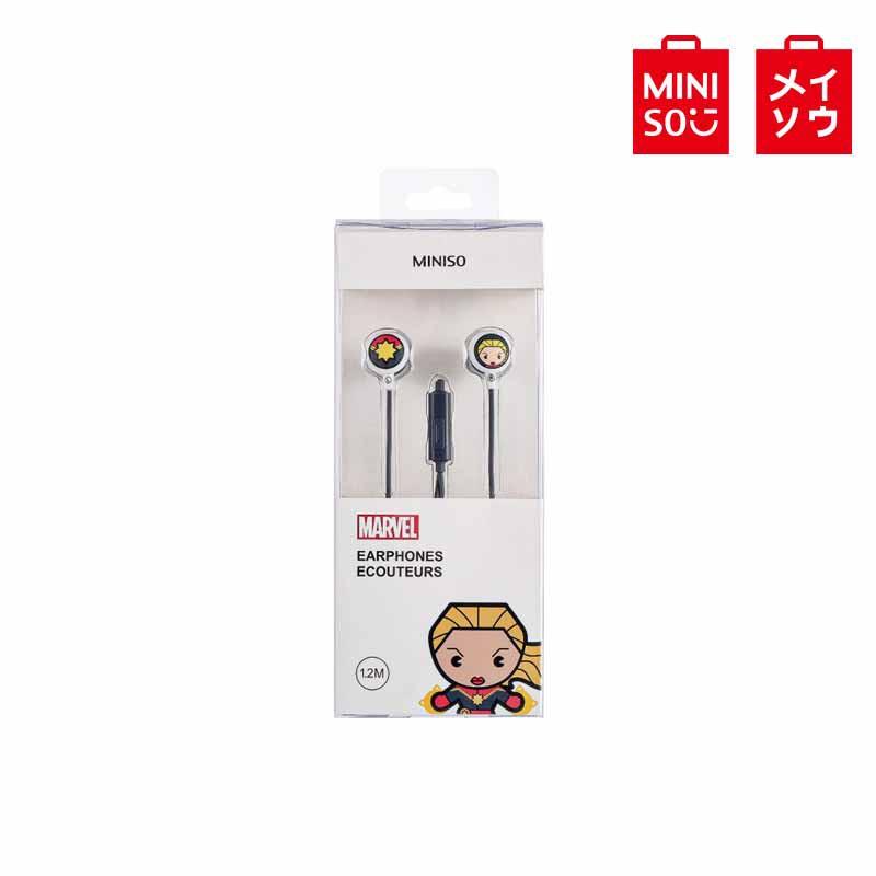 【MINISO名創優品】漫威-卡通入耳式耳機(含麥克風),型號:TSD-M01,驚奇隊長