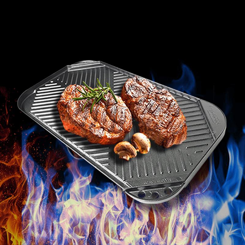 金德恩盤兩用解凍燒烤雙面盤台灣製造GS00220(解凍盤/燒烤盤)