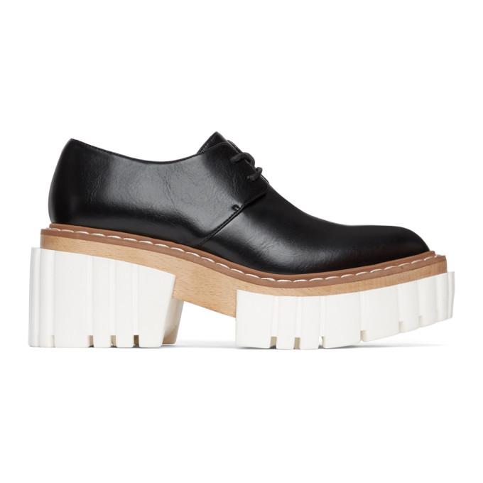 Stella McCartney 黑色 Emilie Chunky 德比鞋