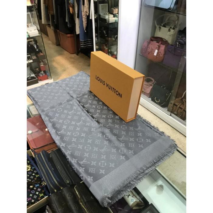 專櫃正品 LV M75120 經典MONOGRAM花紋絲羊毛披肩