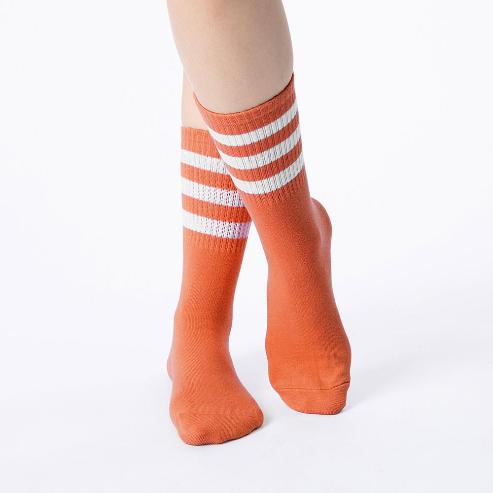 時空旅人三線襪-奔放橘(商品編號:S0519085M)