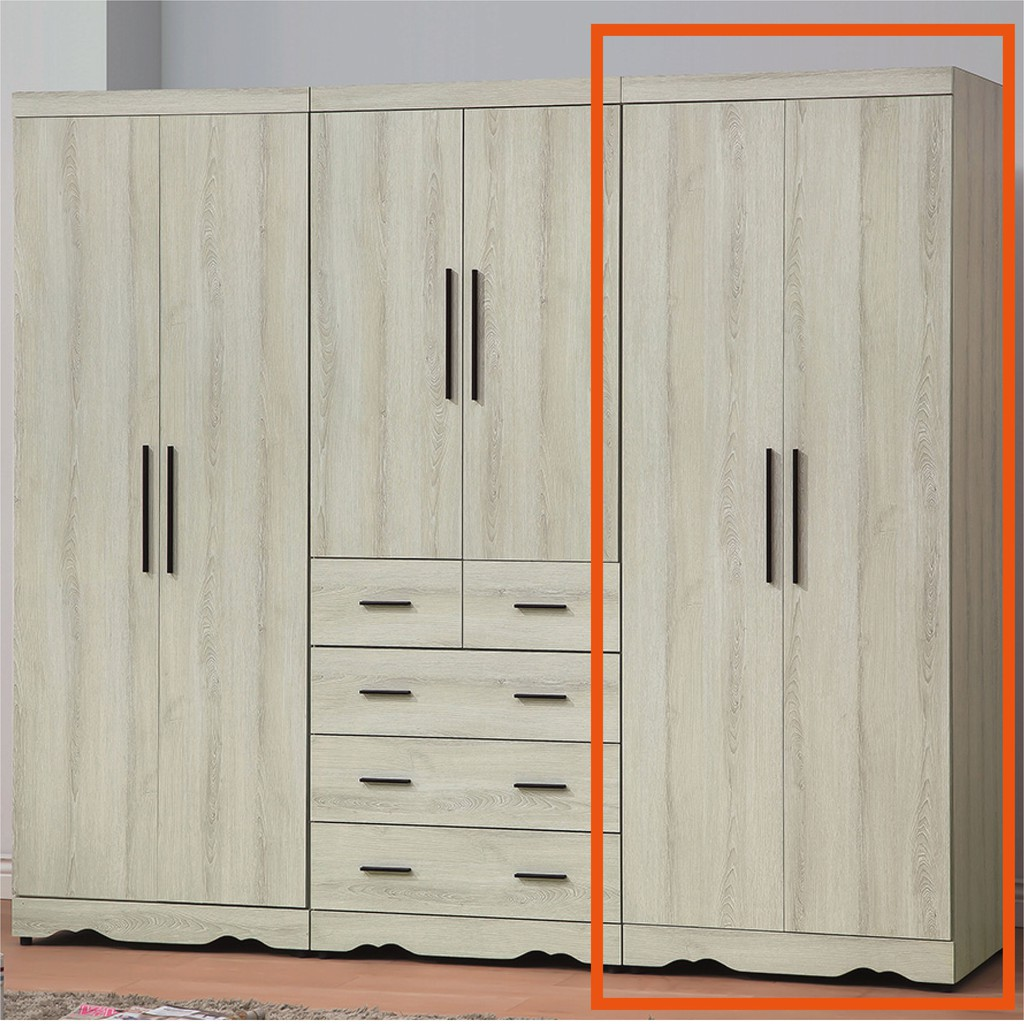 【75cm衣櫃-K58-928】木心板 推門滑門開門 衣服收納 免組裝 【金滿屋】