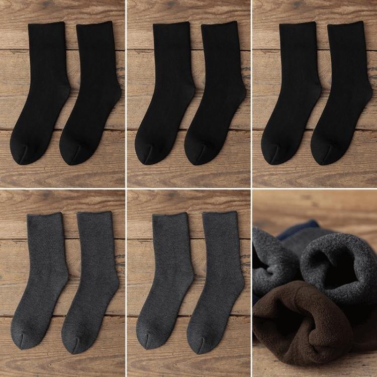 商務襪 厚襪子男冬季超厚毛襪子加絨加厚商務中筒東北抗寒老年人爺爺棉襪