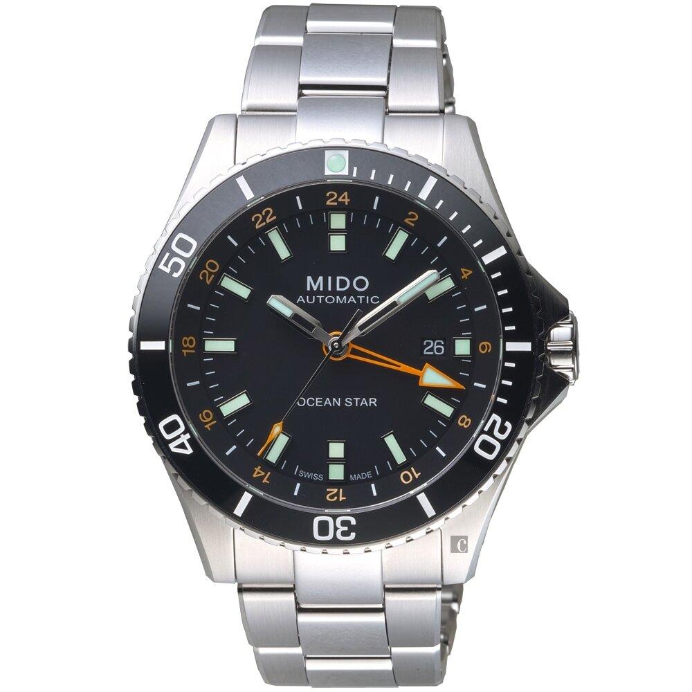 MIDO 美度 Ocean Star 海洋之星 GMT雙時區 200米潛水機械錶 M0266291105101