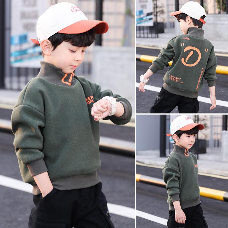 男童春秋冬裝衛衣2020新款帥氣加絨加厚中大兒童秋季男孩上衣韓版