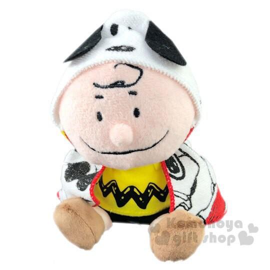 小禮堂 史努比 查理布朗 盒裝披風絨毛玩偶娃娃《S.黃棕》擺飾.玩具