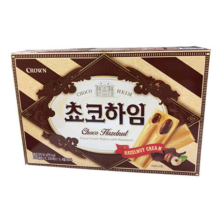 Crown 榛果巧克力醬威化酥142g
