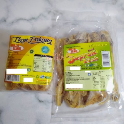 YOYO[ID]  印尼 HALLO ELOM 鹹魚乾 沙丁魚 比目魚 100g