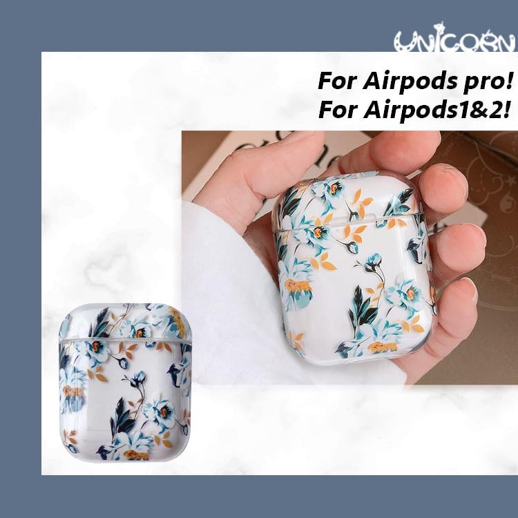 透明梔子花 蘋果AirPods 硬殼保護套 1/2代/3代AirPodsPro 耳機套 收納套【AP1090921】Unicorn