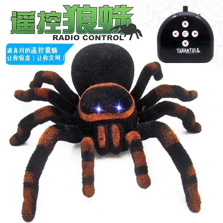 夯貨折扣!紅外線惡搞遙控黑寡婦蜘蛛電動爬行狼蛛仿真嚇人創意整人整蠱玩具