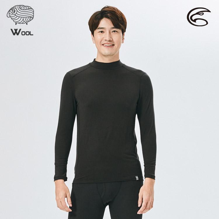ADISI 男美麗諾混紡羊毛高領彈性保暖衣AU2021030 (S-2XL) / 城市綠洲 (抗靜電 抗菌 抑菌 消臭 透氣 發熱衣 衛生衣)