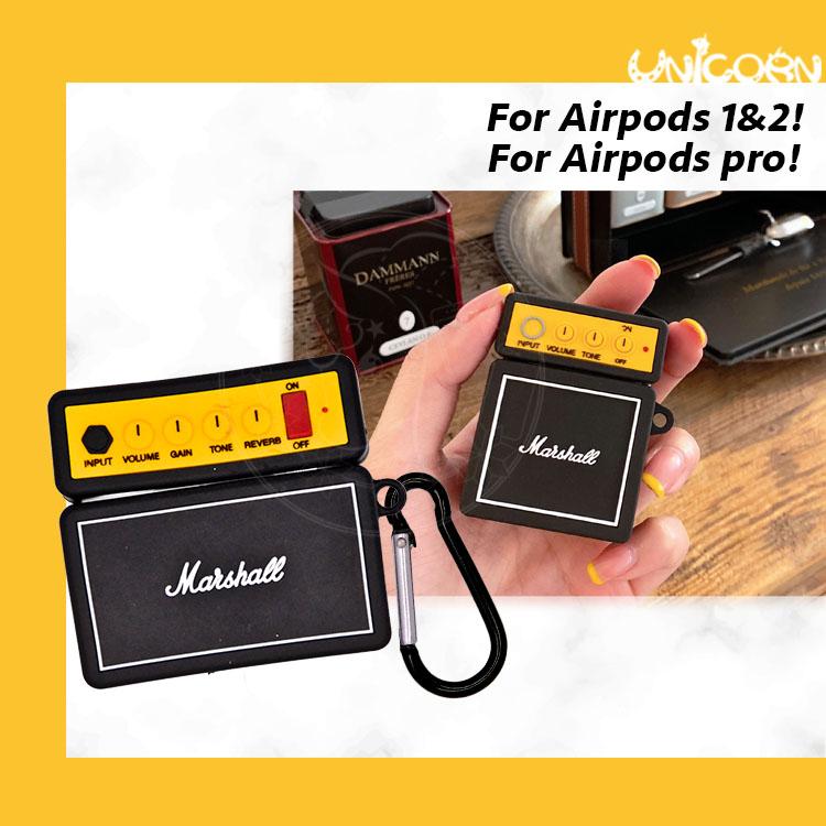 摩登黑色音響造型 蘋果AirPods Pro3代 AirPods 1/2代專用耳機盒保護套 收納套【AP1090213】Unicorn手機殼