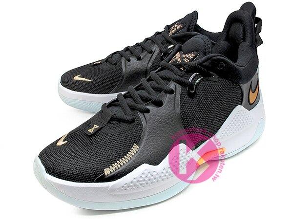 2021 強力登場 Paul George 個人最新簽名鞋款 NIKE PG 5 EP 黑白 淺水藍底 首發配色 致敬 KOBE 9 外底紋路 全腳掌 AIR 氣墊 籃球鞋 PG5 (CW3146-0
