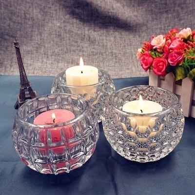 歐式現代創意婚慶酒吧生日圓柱形玻璃蠟燭台擺件