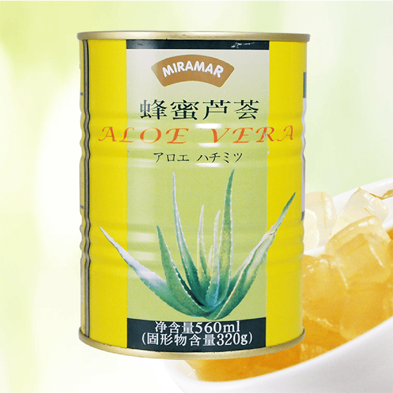 滑潤蜂蜜蘆薈果粒露(6 罐)