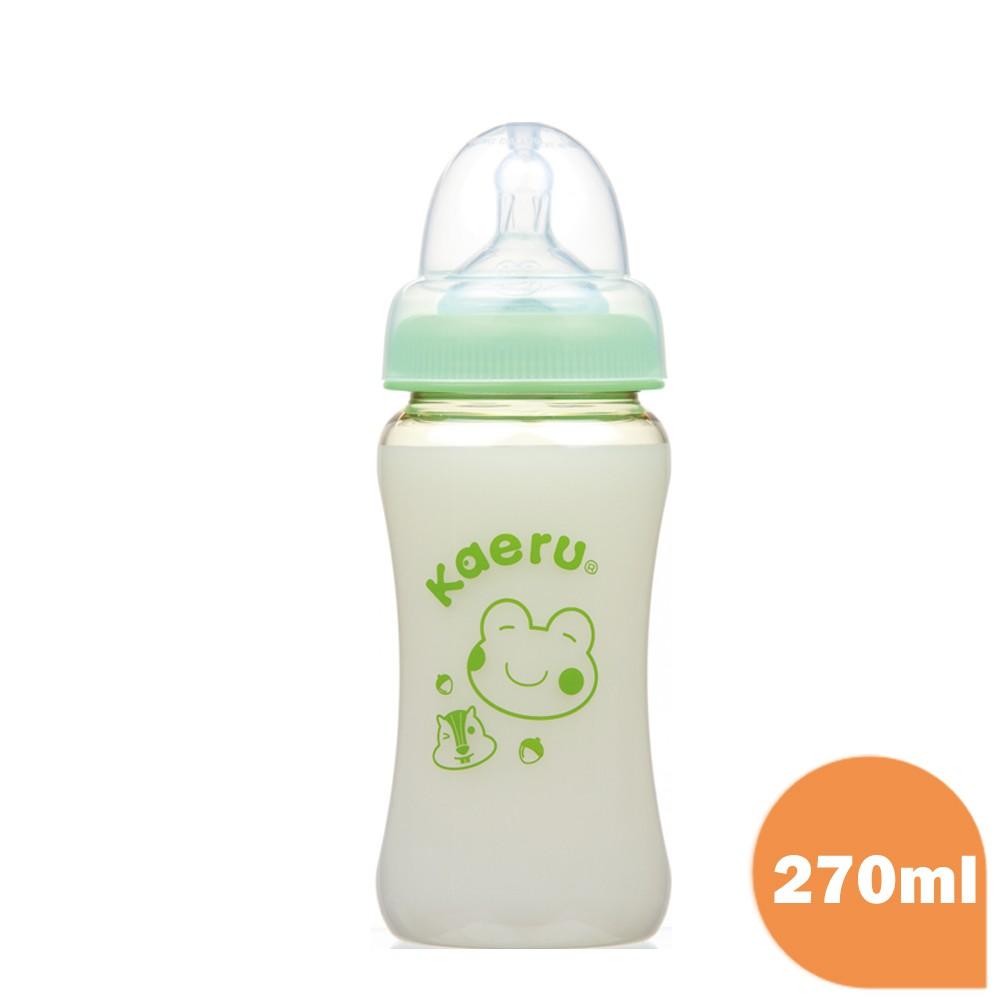 黃色小鴨 Piyo Piyo - 哈皮蛙 PPSU媽咪乳感寬口徑葫蘆奶瓶 270ml(黃色小鴨官方直營)