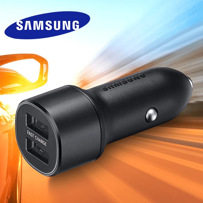 【SAMSUNG 三星】原廠雙USB車載快速充電器(EP-L1100)